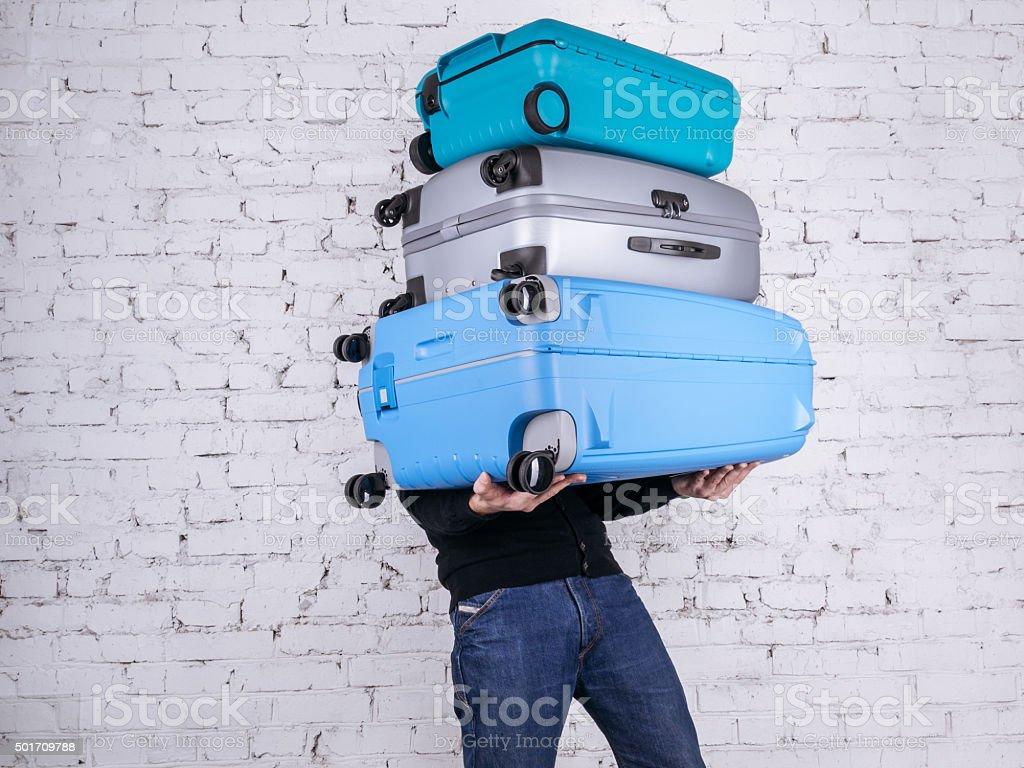 Der Mann mit der Koffer Lizenzfreies stock-foto