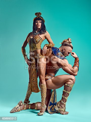 istock The man, woman in the images of Egyptian Pharaoh and 638993312
