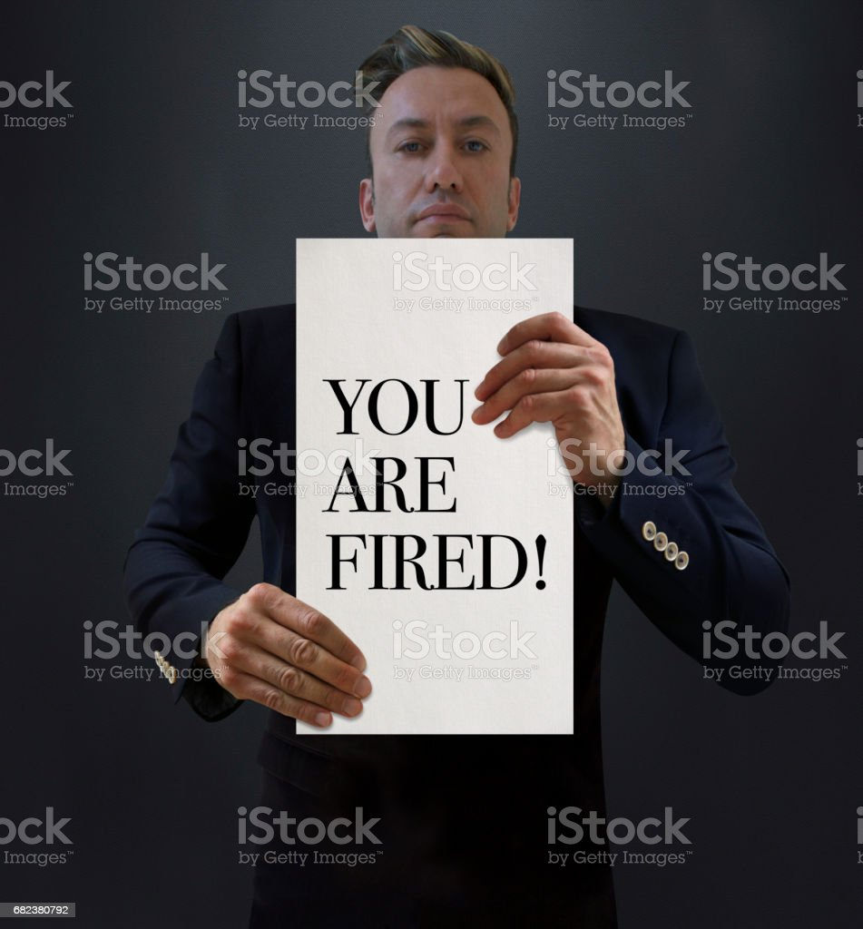 The Manager is Firing royalty-free stock photo