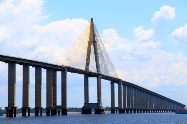 The Manaus Iranduba Bridge - Rio Negro, Manaus, Brazil The Manaus Iranduba Bridge - Rio Negro, Manaus, Brazil rio negro brazil stock pictures, royalty-free photos & images