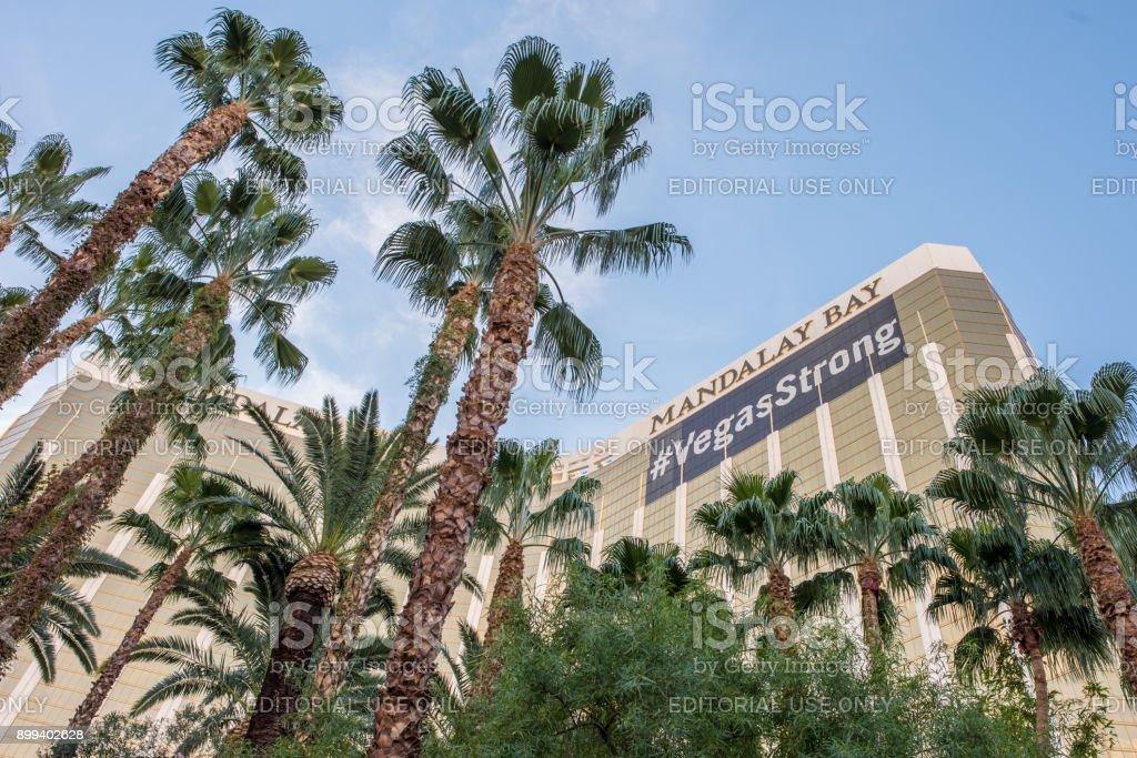 The Mandalay Bay Hotel and Casino in Las Vegas stock photo