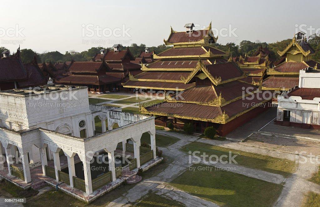 The Mandalay Palace stock photo