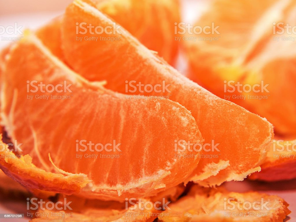 The Mandarin slices for the background stock photo