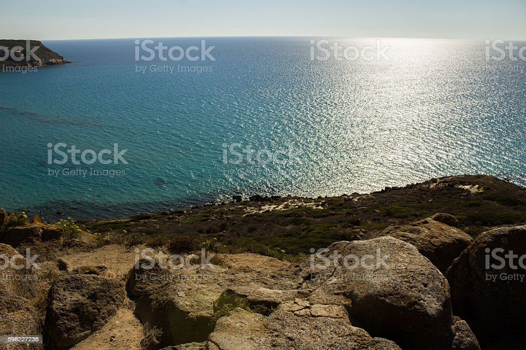 the many shades of blue of the Mediterranean Sea foto royalty-free