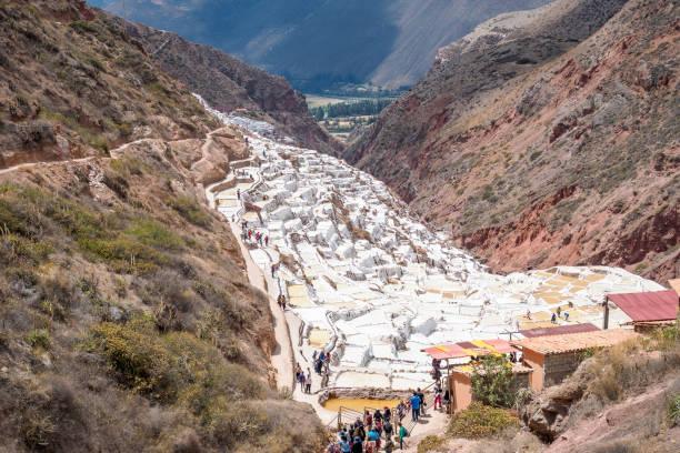 Die Maras Salzbergwerk – Perus erstaunlichsten Inka-Stätte. – Foto