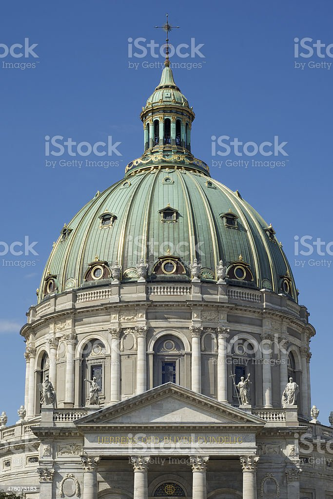 The Marble Church, Copenhagen, Denmark royalty-free stock photo