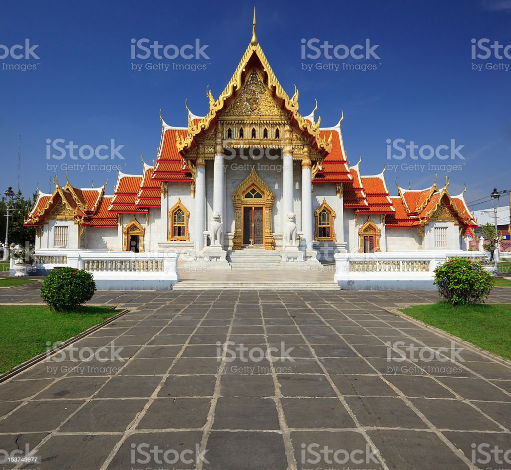 The Marble Temple(Wat Benchamabophit), Bangkok, Thailand royalty-free stock photo