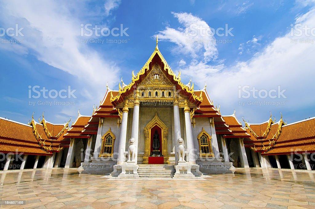 The Marble Temple ( Wat Benchamabophit ), Bangkok, Thailand stock photo