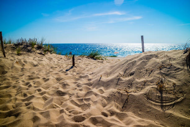 The Marconi Beach in Cape Cod National Seashore, Massachusetts stock photo