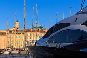 View of Saint-Tropez port, south of France, French Riviera – October 2, 2019