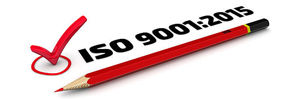 ISO 9001:2015. The Mark stock photo