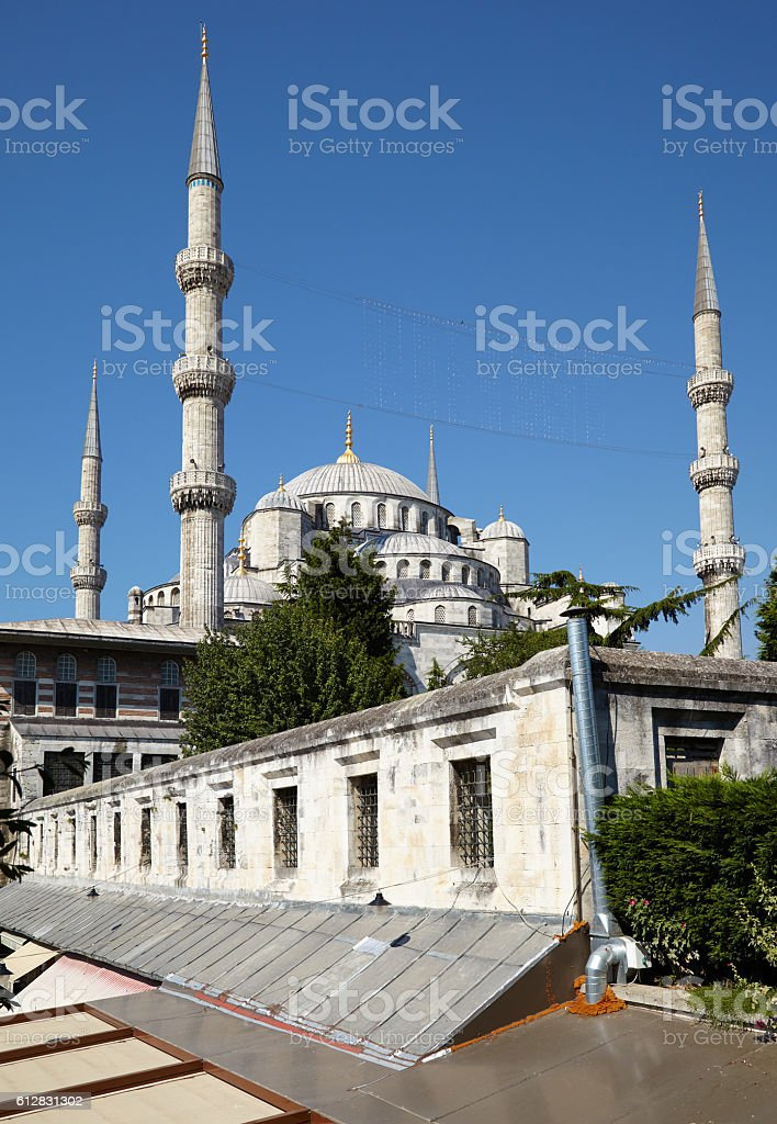 The market at the Blue Mosque. Istanbul. stock photo