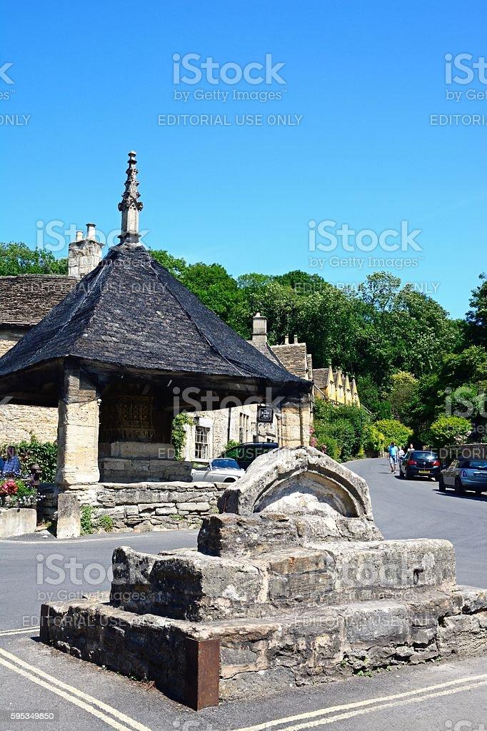 The Market Cross, Castle Combe. stock photo