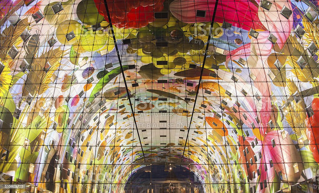 The markthal in Rotterdam stock photo