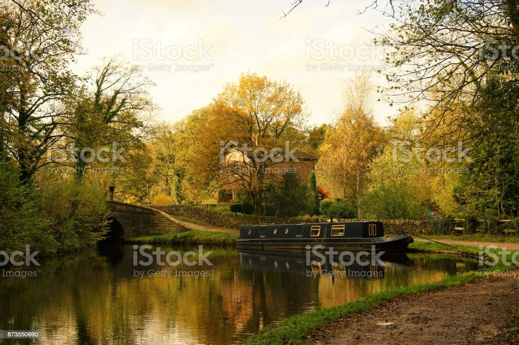 The Marple Canal stock photo