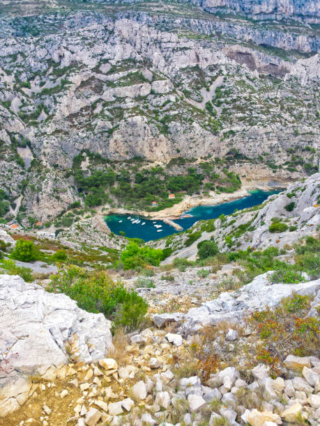 The Marseille creeks: the Calanque de Morgiou stock photo