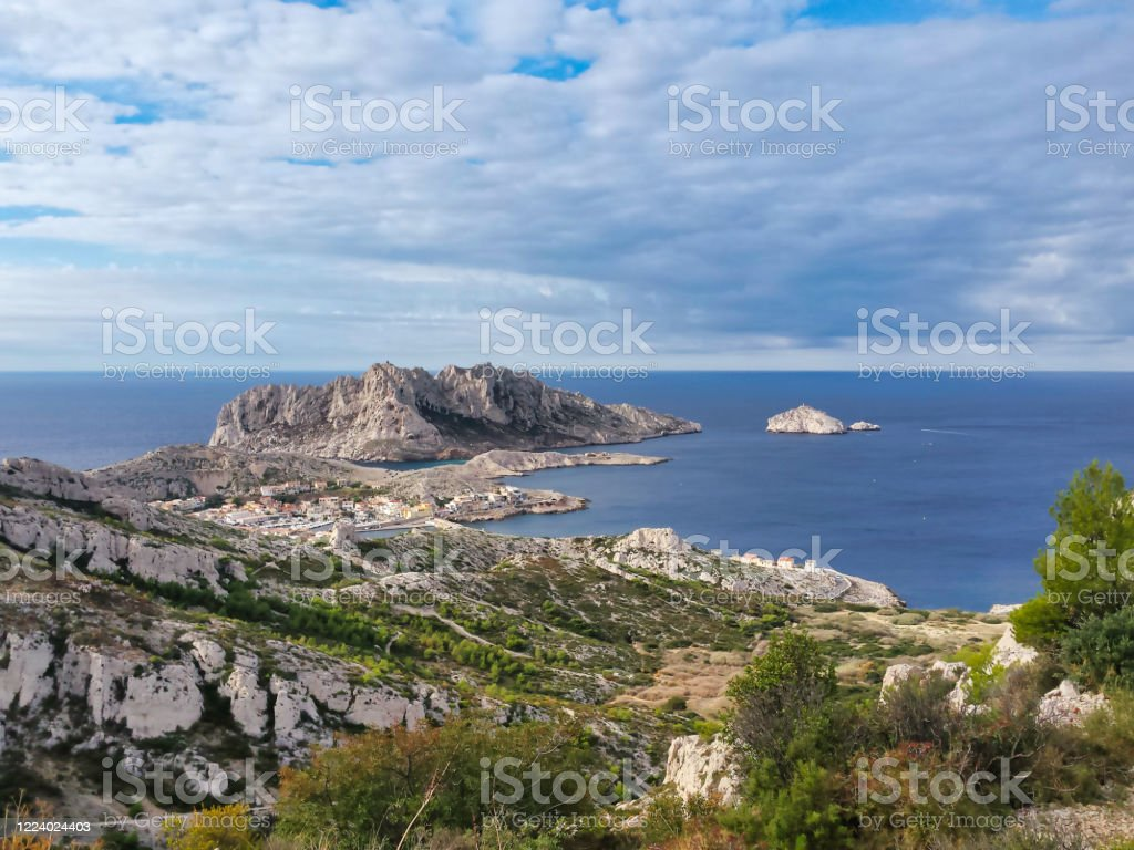 The Marseille creeks: The cove of Marseilleveyre - Royalty-free Beach Stock Photo
