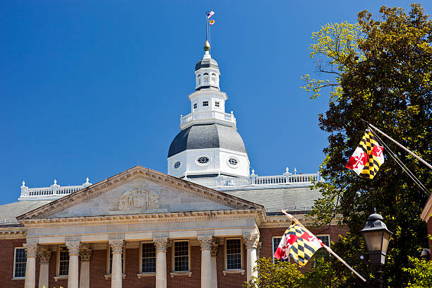 The Maryland State House In Annapolis stock photo