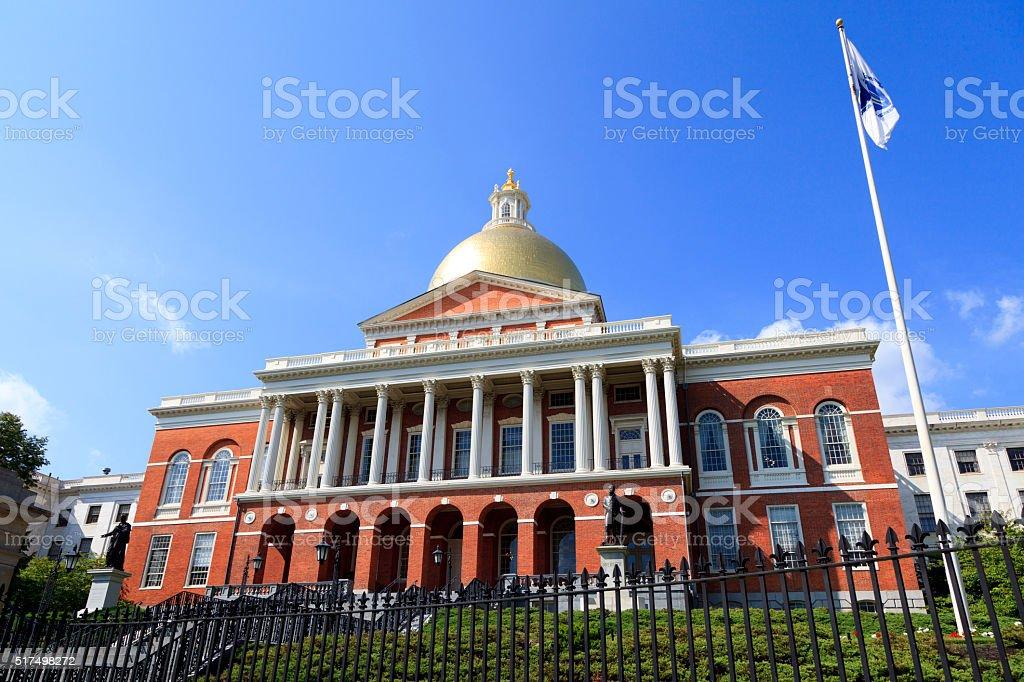 The Massachusetts State House stock photo