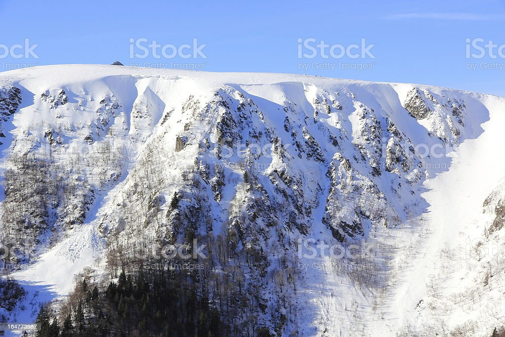 The Massif of Vosges in winter royalty-free stock photo