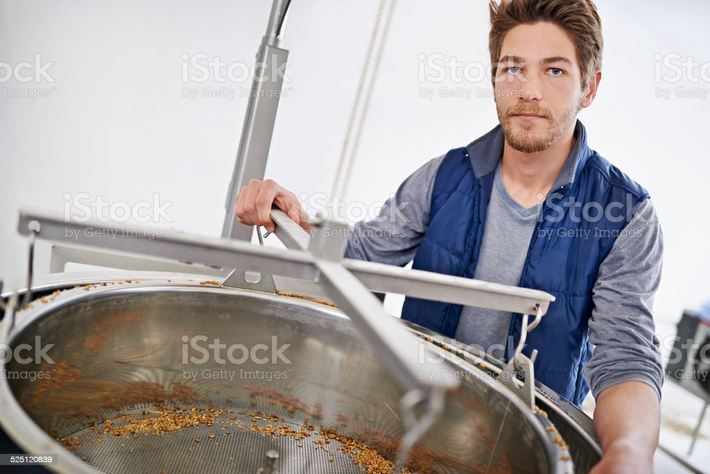 The master brewer himself stock photo