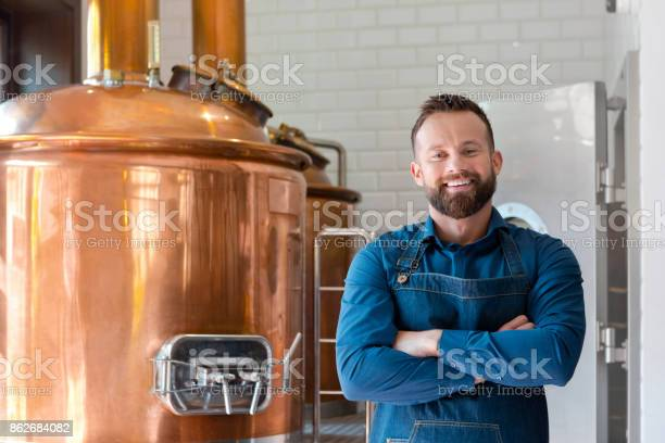 The Master Brewer In His Micro Brewery Stock Photo - Download Image Now