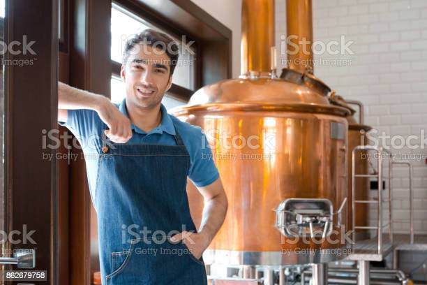 The Master Brewer In Micro Brewery Stock Photo - Download Image Now