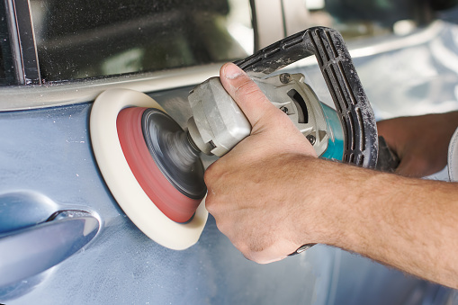 istock The master polishes the car 948215248