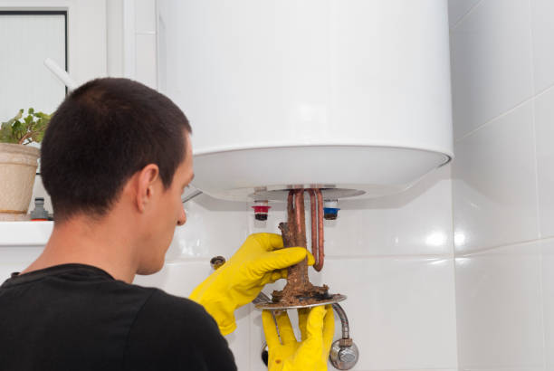 the master repairs the boiler - deposition stock pictures, royalty-free photos & images