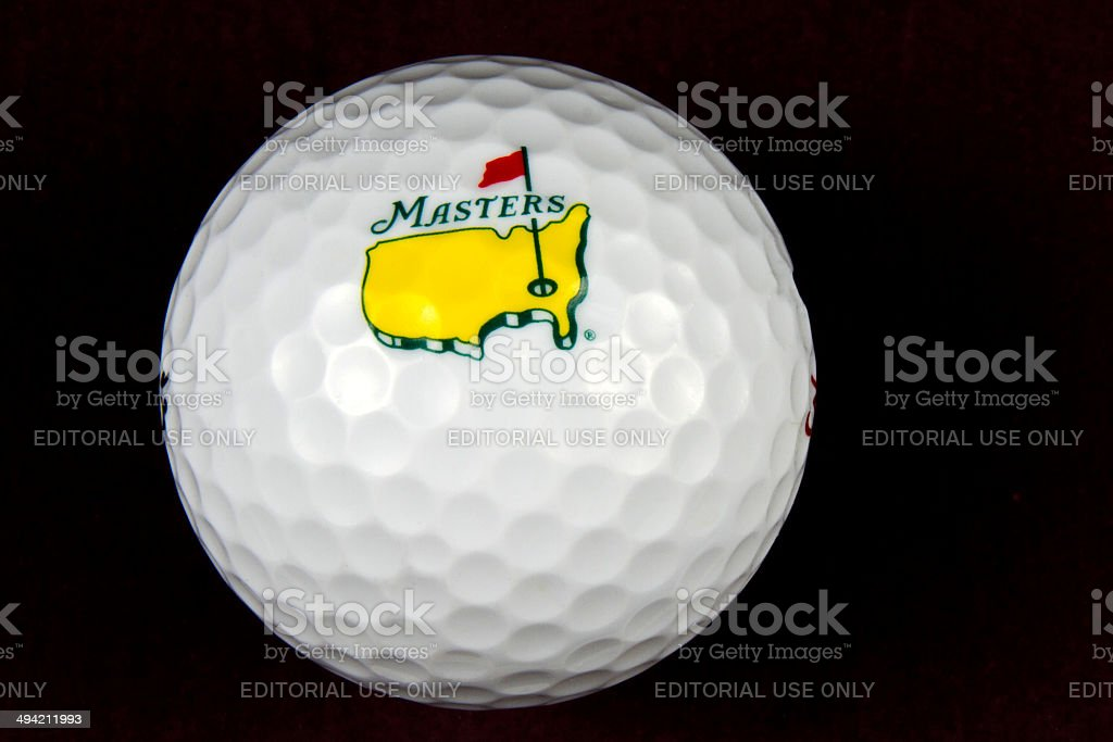 The Masters Tournament Golf Ball stock photo