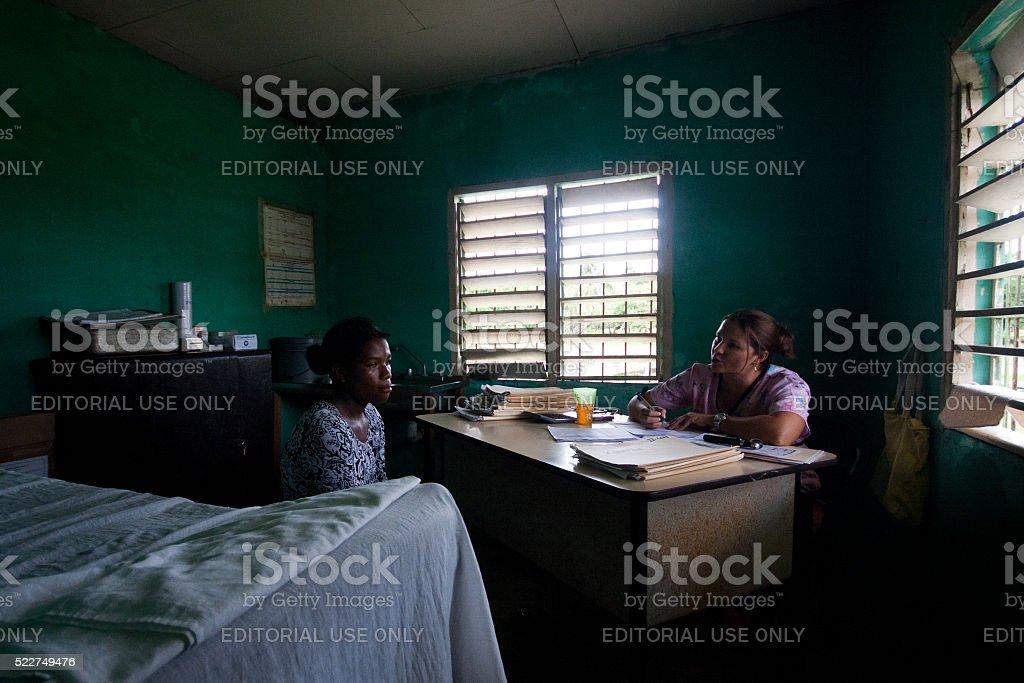 The maternal health clinic stock photo