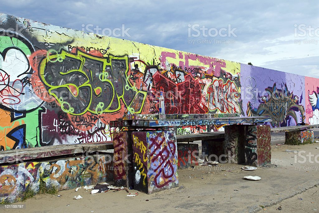 The Mauerpark in Berlin stock photo