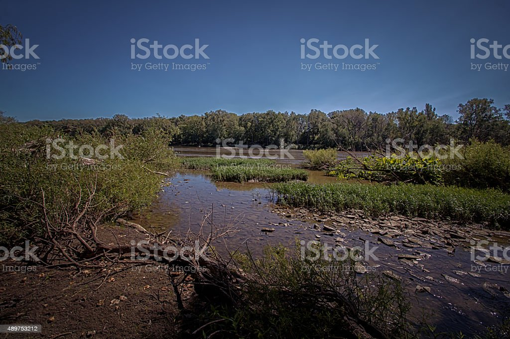 The Maumee River stock photo