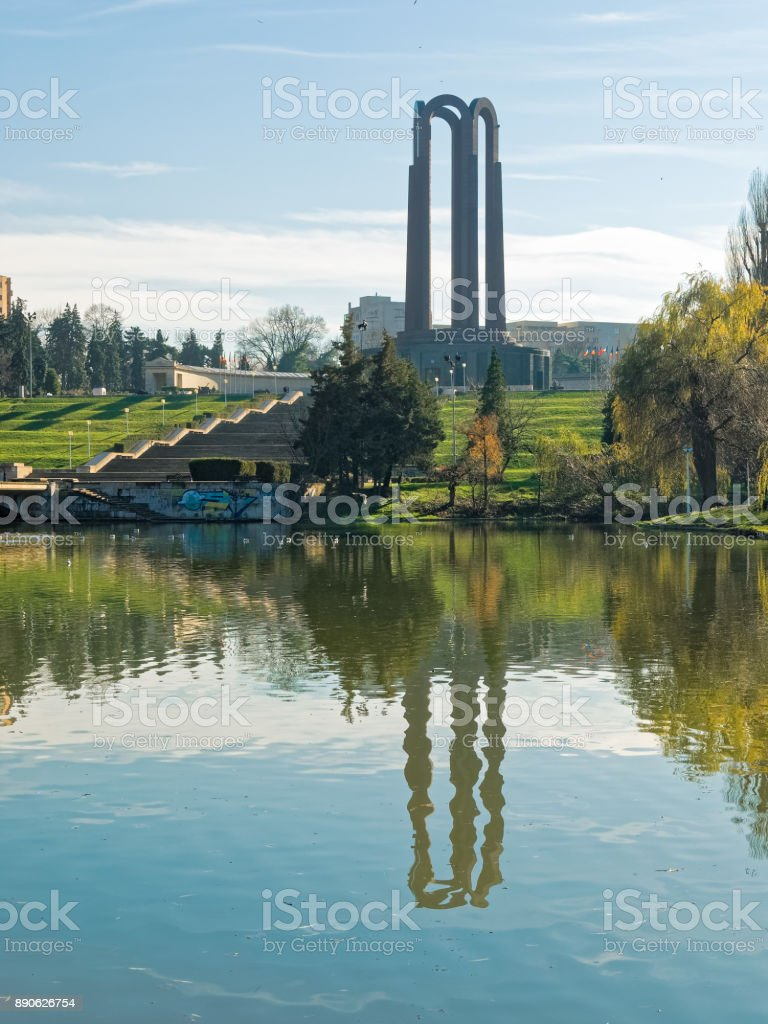 The mausoleum from Carol Park Bucharest stock photo