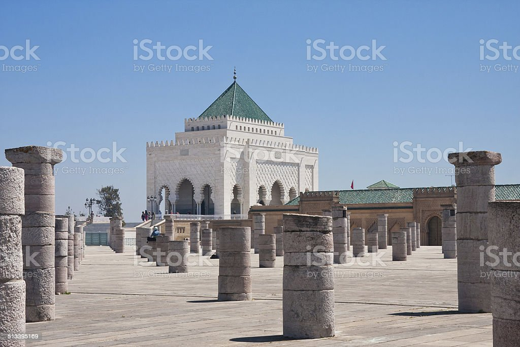 The Mausoleum of Mohammed V in Rabat, Morocco stock photo