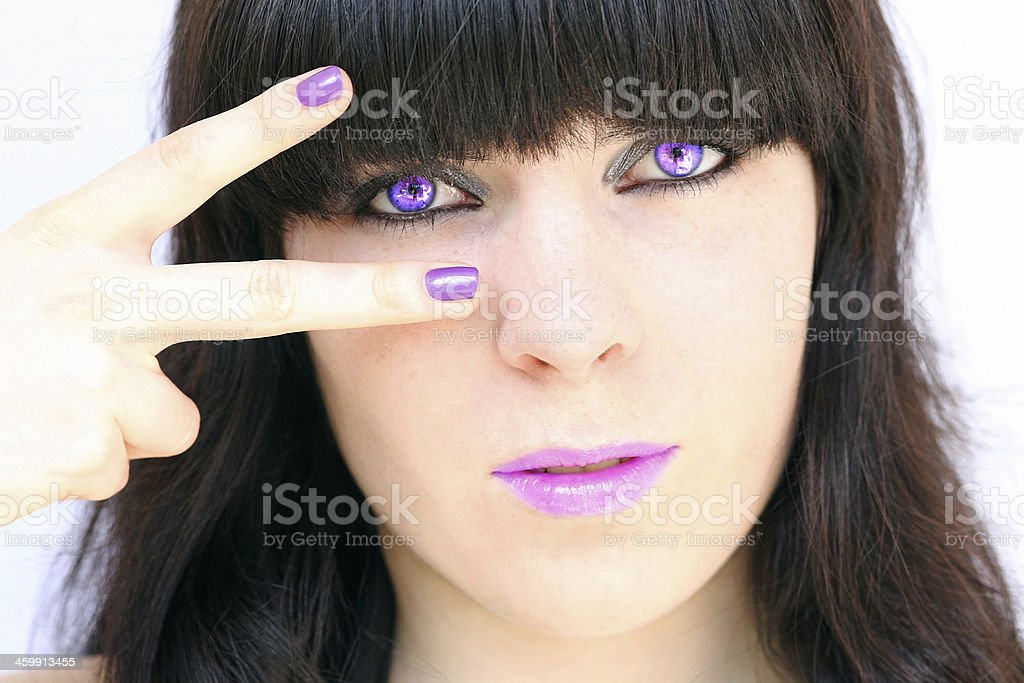 the mauve make up stock photo