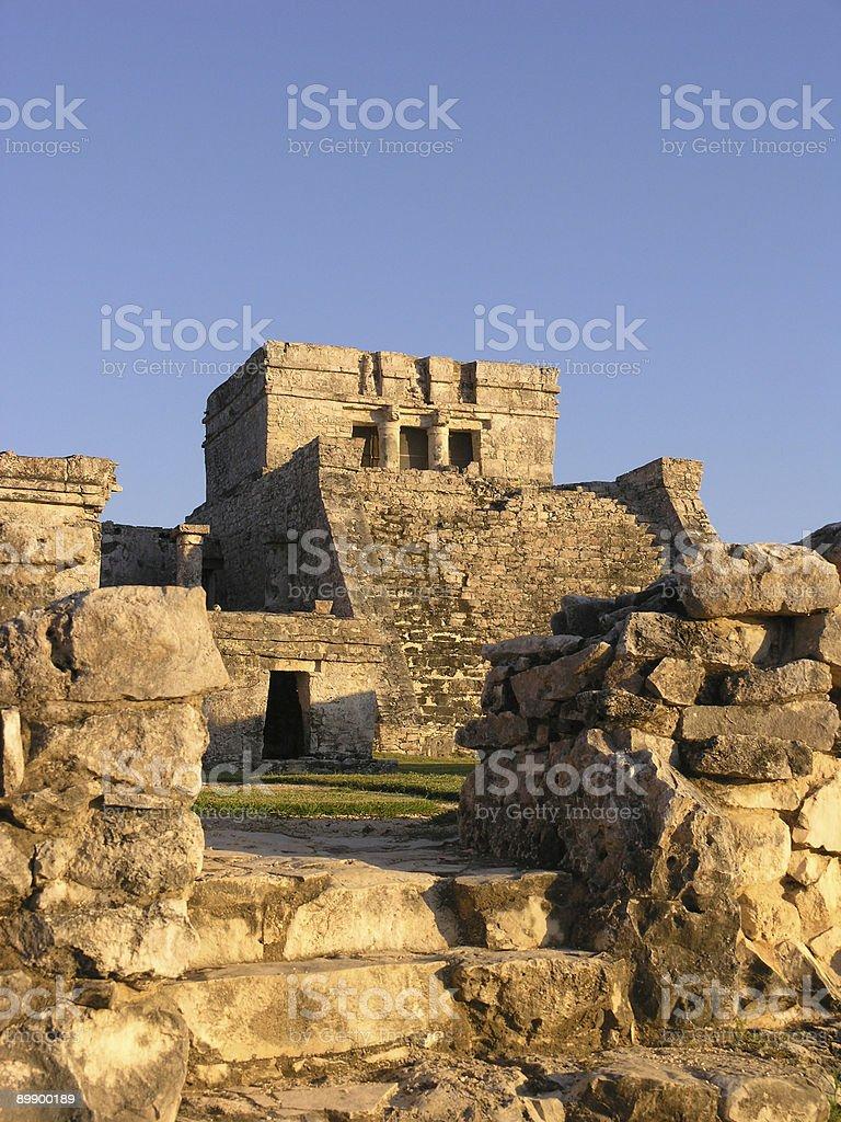 The Mayan ruin at Tulum royalty-free stock photo