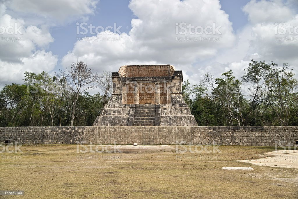 The mayan ruins of Ball Court in Chichen Itza. royalty-free stock photo