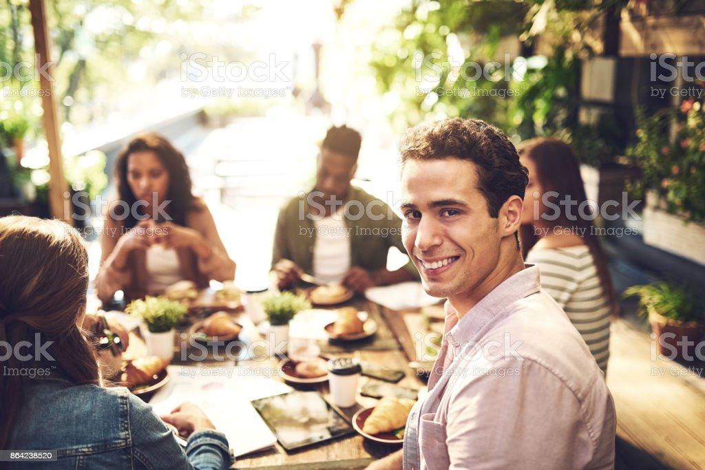 The meal and the meeting has been amazing royalty-free stock photo