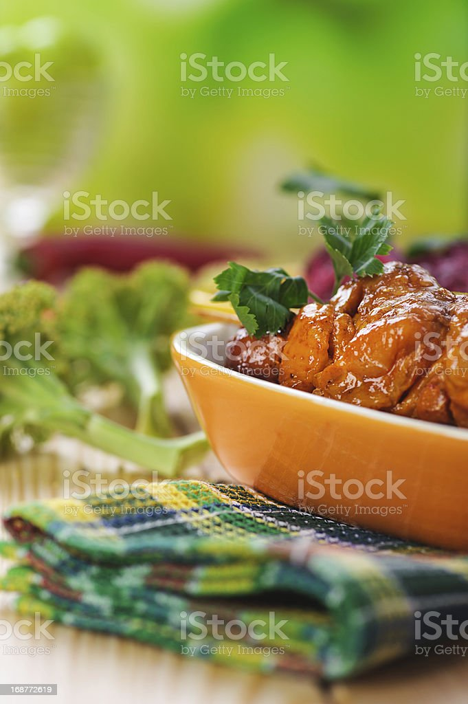 the meat kebab skewer royalty-free stock photo