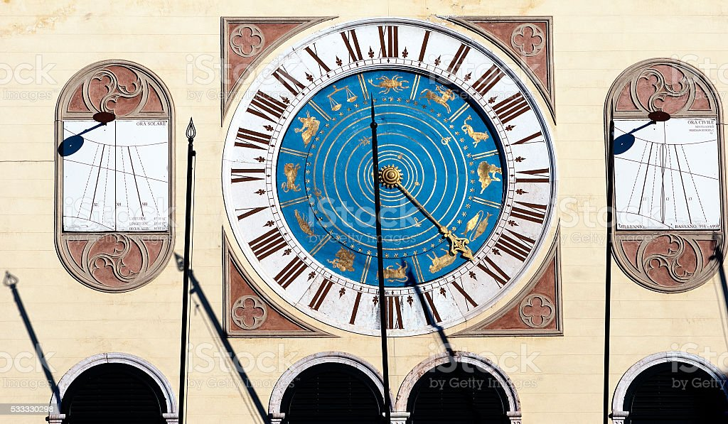 The mechanical clock stock photo