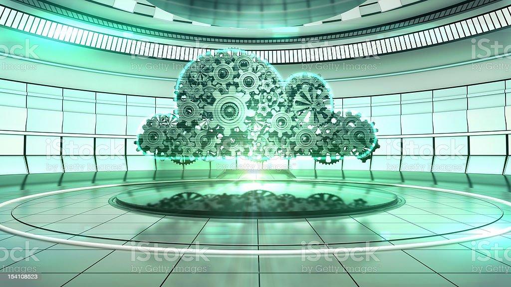 The Mechanical Cloud stock photo