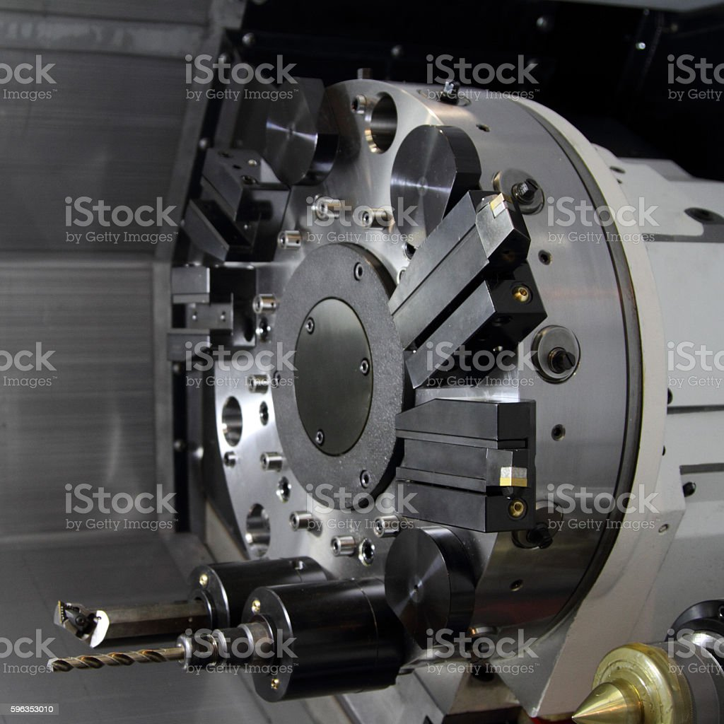The mechanism of cutting machine. royalty-free stock photo