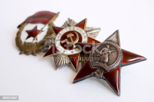 istock The medal of soviet heroes 93532667