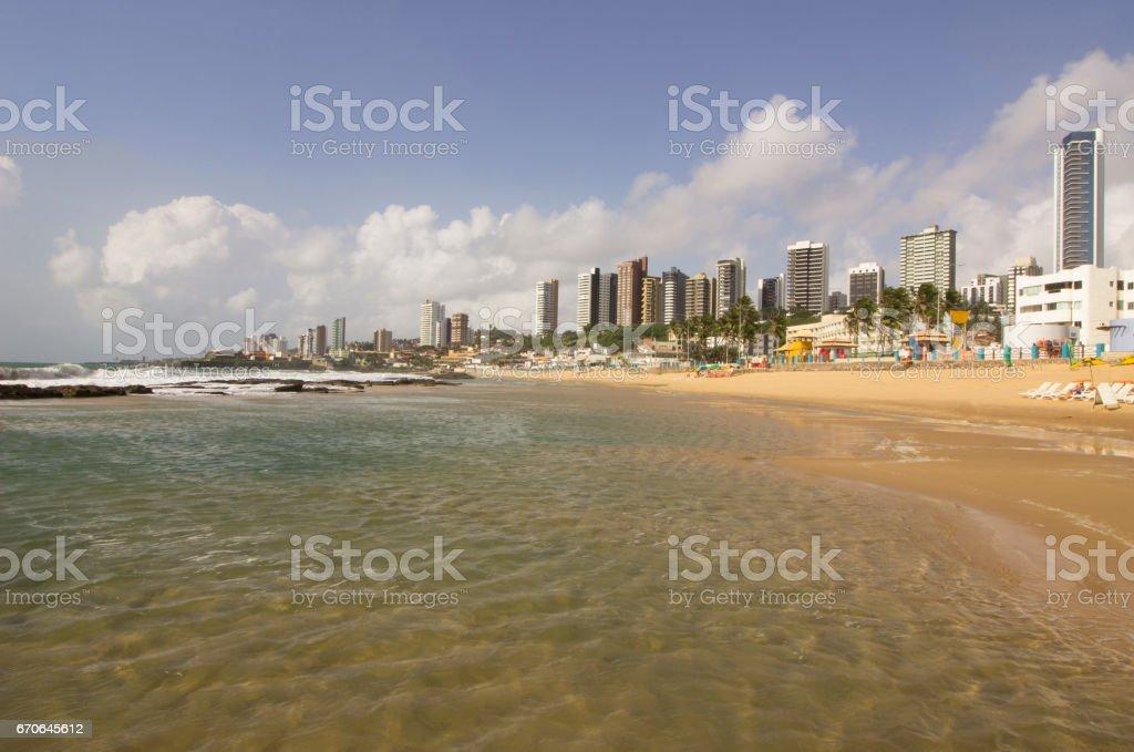 The meddle beach - urban beach, Natal, Brazil stock photo