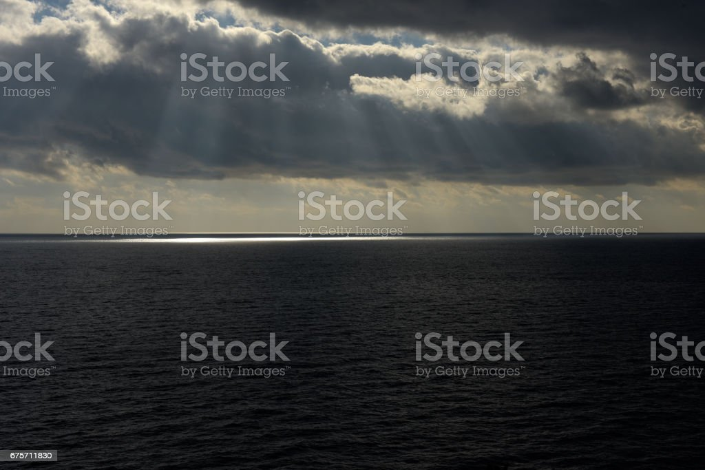 The mediaterranean sea close to Portofino 免版稅 stock photo