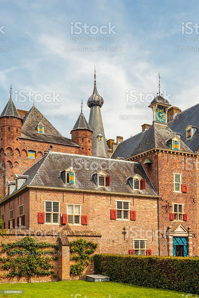 The medieval castle in Doorwerth, The Netherlands stock photo
