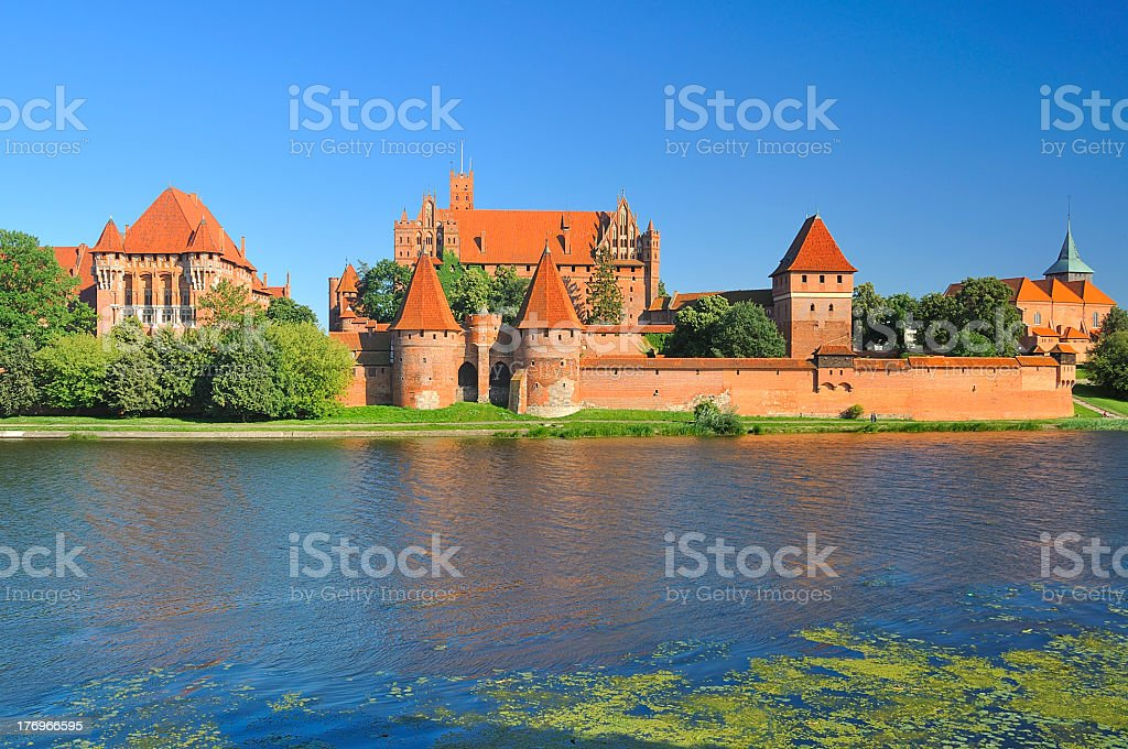 The medieval castle in Malbork. Poland. royalty-free stock photo