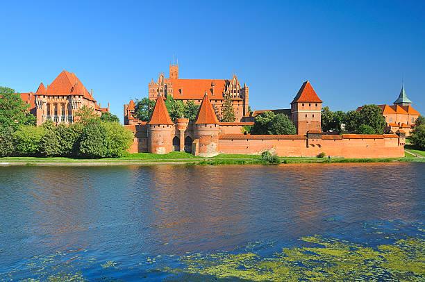 The medieval castle in Malbork. Poland. stock photo