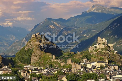 istock The medieval castles Valere and Tourbillon, Sion, Switzerland 503488574